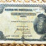 Portugal 2500 reis 1910 anverso