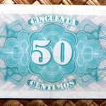España 50 ctmos. 1937 (85x45mm) reverso