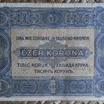 Hungria 1.000 coronas 1923 (135x78mm) pk.75a reverso