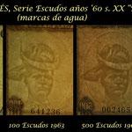 Timor portugués serie escudos Regulo D Aleixo años '60 s.XX marcas de agua