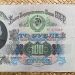 Rusia URSS 100 rublos 1947 anverso