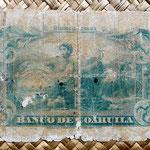 México, 5 pesos 1909 Banco de Coahuila -Saltillo reverso