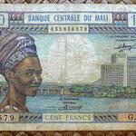 Mali 100 francos 1972-73 (122x80mm) pk.11 anverso
