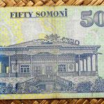 Tajikistan 50 somonis 1999 reverso