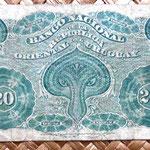 Uruguay 20 centésimos de peso 1887 reverso