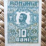 Rumanía 10 bani 1917 (45x34mm) anverso