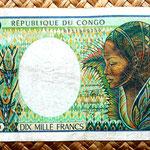 Congo 10000 francos 1992 anverso