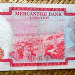 Hongkong 100 dolar 1974 Mercantile Bank Limited reverso