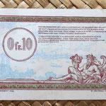 Francia 0.10 francos 1923 -Régie des Chemins de Fer des Territoires Occupés- reverso