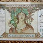 Djibouti 100 francos 1928-38 (205x115mm) pk. 8 anverso