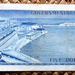 Malta 5 pounds 1961 reverso
