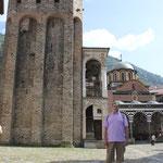 Torre de Hrelio, campanario e iglesia de la Natividad