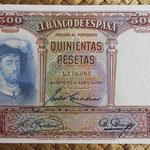 España 500 pesetas 1931 (151x95mm) pk.84 anverso