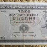 Timor portugués 500 escudos 1963 (160x84mm) pk.29a anverso