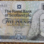 Escocia 5 pounds 2005 Royal Bank Conmemorativo JWN (135x72mm) pk.365 anverso