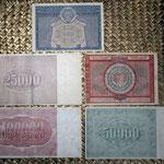 Rusia R.S.F.S.R. serie rublos 1921 reversos