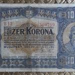 Hungria 1.000 coronas 1923 (135x78mm) pk.75a anverso