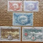 Mónaco, serie billetes 1920 reversos