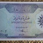 Irak 10 dinares 1959 (178x90mm) pk.55a anverso
