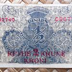 Reino de Serbia, Croacia y Eslovenia 0,50 dinar 2 coronas 1919 reverso