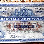 Escocia 1 libra 1946 Edimburgo anverso