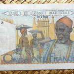 French West Africa 50 francos 1948 anverso