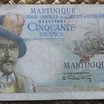 Martinica 50 francos 1947 (150x80mm) pk.30 anverso