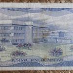 Malawi 10 kwachas 1986 (162x86mm) pk.21a reverso