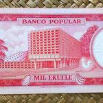 Guinea Ecuatorial 1000 ekuele 1975 (178x75mm) reverso