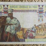 Mali 500 francos 1970-84 (129x85mm) pk.12a reverso