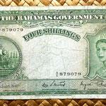 Bahamas 4 shillings 1953 anverso