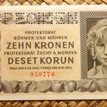 Bohemia y Moravia 10 coronas 1942 Specimen anverso