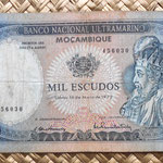 Mozambique colonial 1000 escudos 1972 anverso