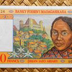 Madagascar 2500 francos - 500 ariary 1998 (145x74mm) pk.81 anverso