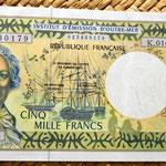 Polinesia francesa 5000 francos 1996  anverso
