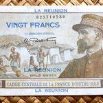 Isla Reunión 20 francos 1947 anverso