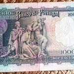 Portugal 1000 escudos 1966 reverso