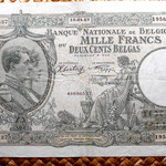 Bélgica 1000 francos-200 belgas 1943 anverso