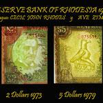Rodesia serie 1970-1972 marcas de agua