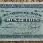Indias Holandesas 10 gulden 1930 (154x78mm) pk.70 anverso