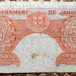 Jamaica 5 shillings 1940 reverso