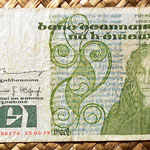 Irlanda 1 pound 1979 (80x145mm) pk.70b anverso