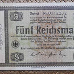 Alemania bono 5 Reichsmark -jewish notes- 1933 (190x110mm) pk.199 anverso
