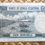 Guinea Ecuatorial 100 bipkwele 1979 reverso