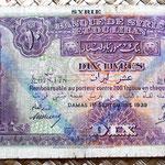 Siria 10 libras 1939 anverso