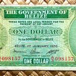 Belice 1 dolar 1976 anverso