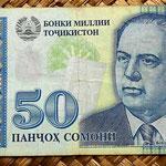 Tajikistan 50 somonis 1999 anverso