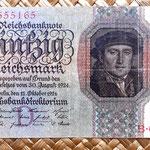 Alemania 50 reichsmark 1924 anverso
