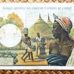 Costa de Marfil 5000 francos 1966-77 reverso