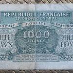 Francia 1000 francos 1945 (151x84mm) pk.107 reverso